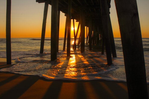 Sunrise at the Virginia Beach Pier thumbnail