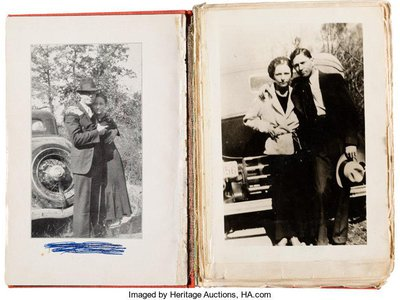 The volume of poetry is set to be sold alongside a trove of photographs passed down by the Barrow family.