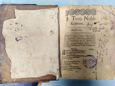 This book, printed in 1634, contains what may be the first Shakespeare play to reach Spain.