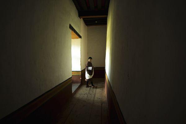 Stranger in monastery. thumbnail