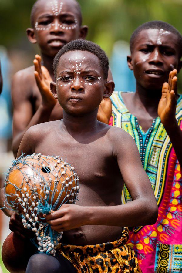 Young musicians, Takoradi, Ghana, Africa thumbnail