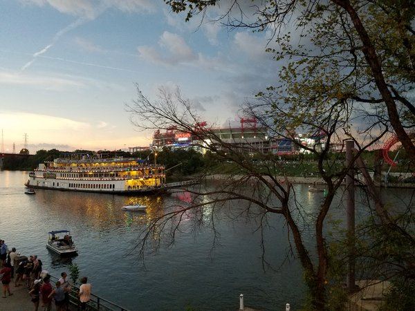 Nissian Stadium & General Jackson Cruise Boat During Total Eclipse thumbnail