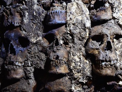 The bones likely belong to people sacrificed during the reign of Ahuízotl, eighth king of the Aztecs.