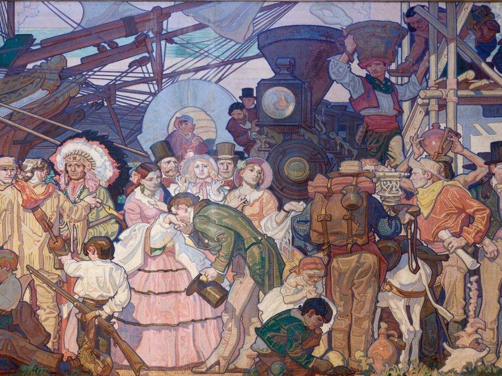 Americanization mural