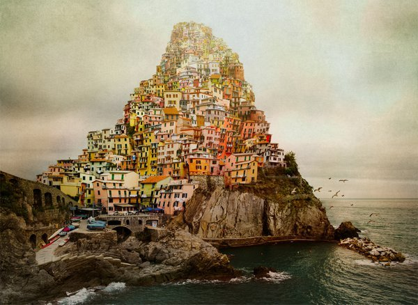 """Babylon - Made in Italy""Inspired by the story of Babylon tower, the painting of Pieter Bruegel and by trip to the beautiful Cinque-Terre in Italy thumbnail"