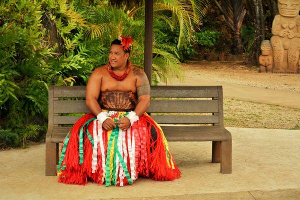 A performer at Polynesian cultural center,Hawaii.  thumbnail