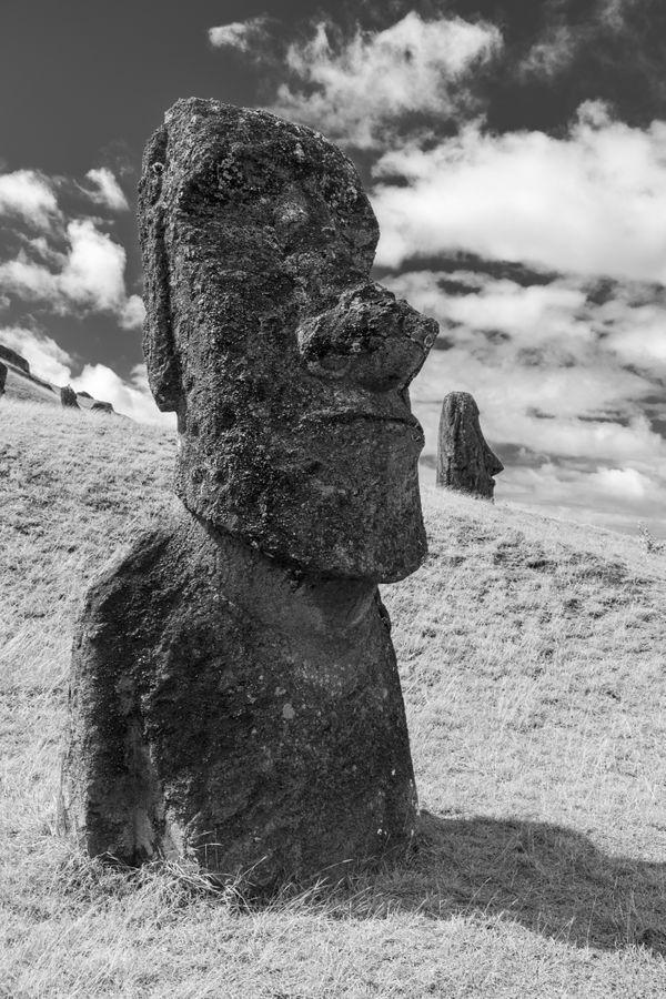 Moai statues on Easter Island. thumbnail