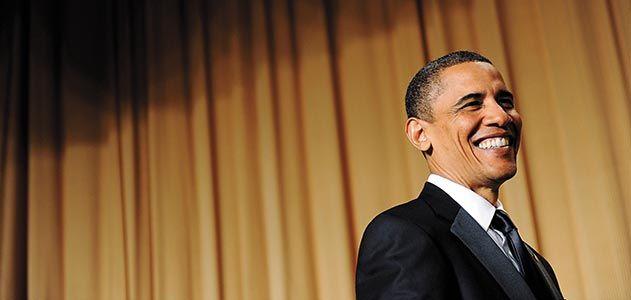 President Barack Obama at White House Correspondents Dinner