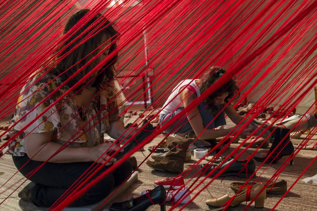 What's In a Shoe? Japanese Artist Chiharu Shiota Investigates