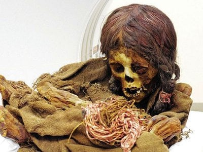 The 8-year-old girl lived in the Andes around 1470