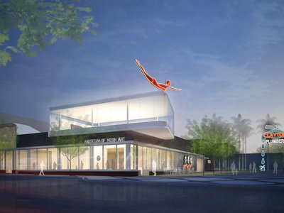 A rendering of the newly reopened Museum of Neon Art in Glendale, California.