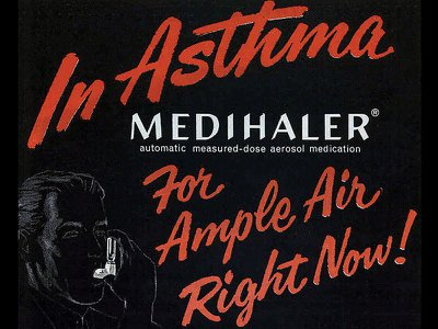 Riker Laboratories advertised its new device for treating asthma in 1957—two years after a teenager's truly inspiring suggestion.