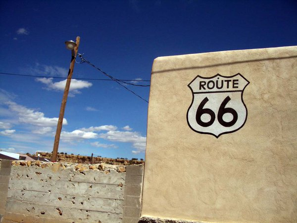 An old Route 66 sign. thumbnail