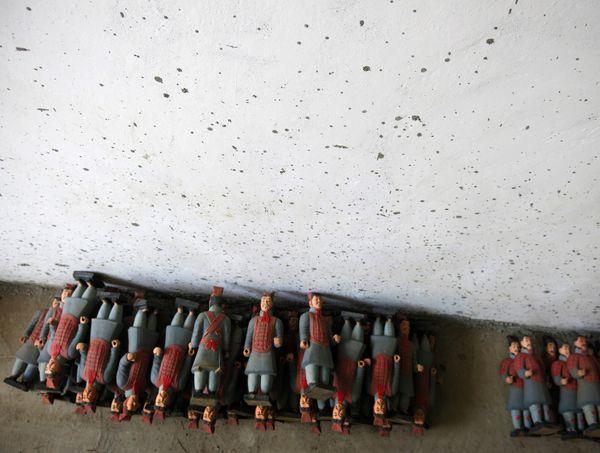 Models of terracotta warriors  in Xian, China thumbnail