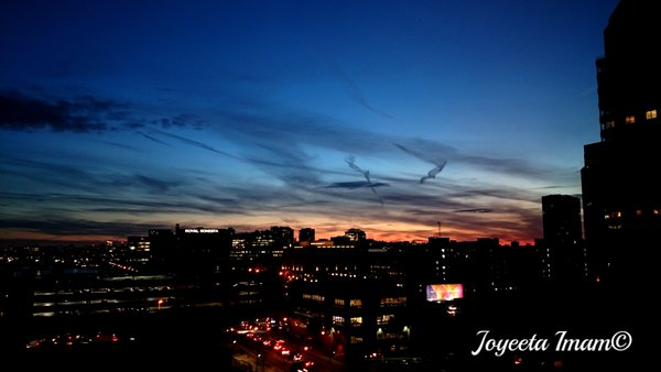 View of Boston and Cambridge at night thumbnail