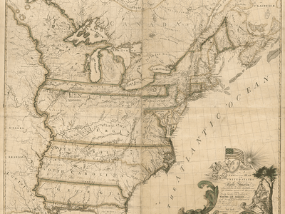 Abel Buell's map was the first in the country submitted for copyright, in March of 1784.
