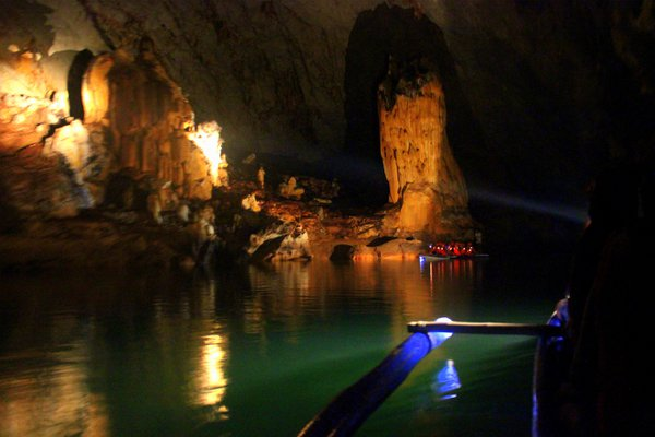 Inside the Underground River, Palawan, Philippines. thumbnail