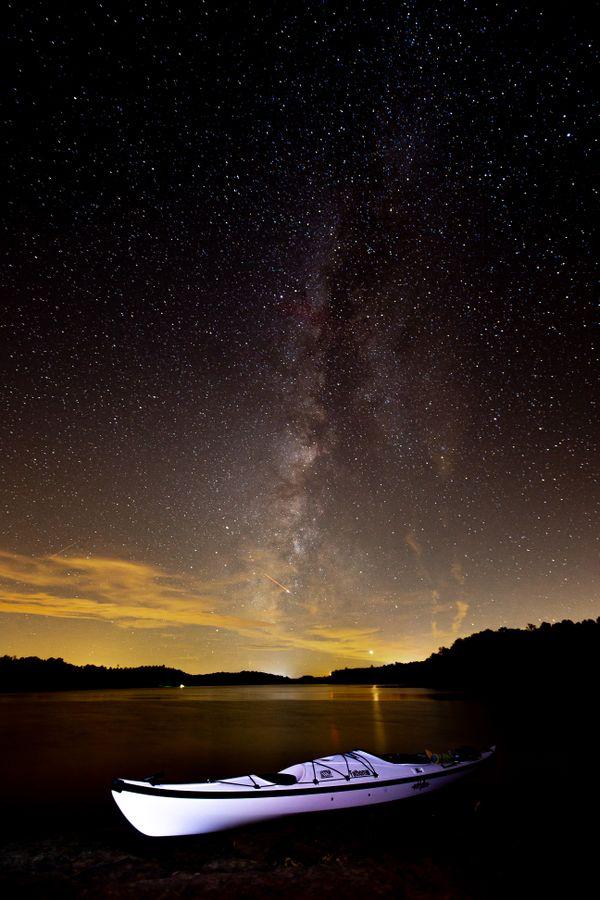 Milky Way over Laurel Lake thumbnail