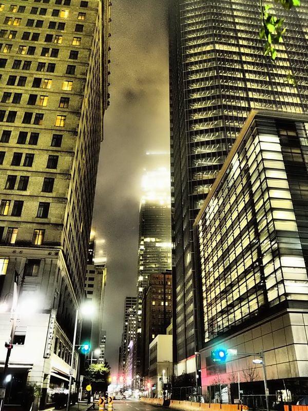 Street at night in Downtown Houston thumbnail
