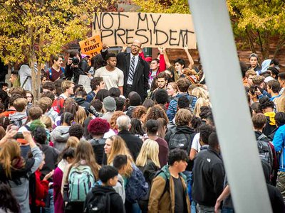 After the 2016 election, several hundred students at Montgomery Blair High School in Silver Spring, Maryland, walked out of the classrooms in protest.
