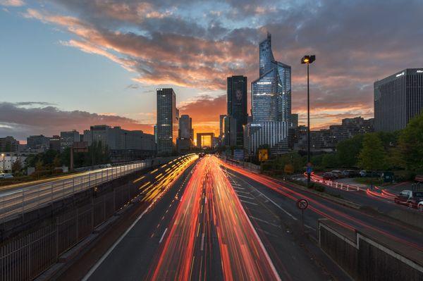 Highway to La Defense in Paris thumbnail
