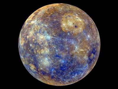 Yum! A candy-colored view of the planet Mercury shows differences in its chemical makeup.
