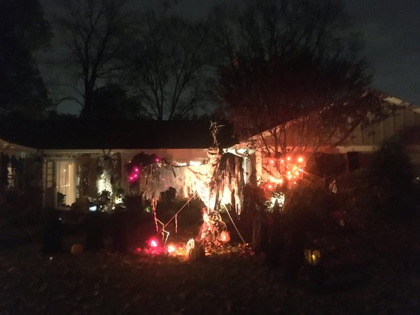 Nighttime Halloween Decorations in Montclair, NJ thumbnail