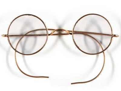 These frames may have been the first pair of iconic round glasses worn by John Lennon.