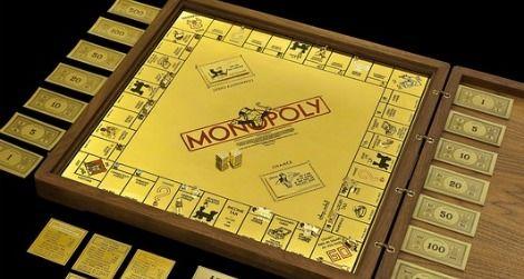 Mobell's 18-karat gold Monopoly Board