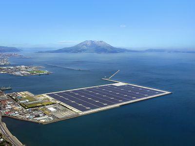 Kagoshima Nanatsujima Mega Solar Power Plant.