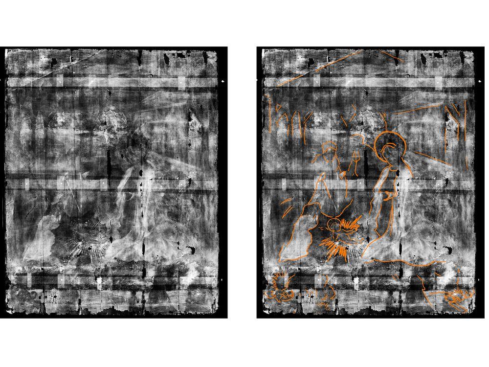 Nativity scene x-ray comparison