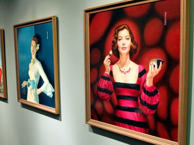 The library in the Ava Gardner Museum is filled with portraits painted by Bert Pfeiffer, who vowed to paint one of Ava every year.