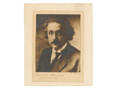 A 1928 portrait of physicist Albert Einstein by Lotte Jacobi