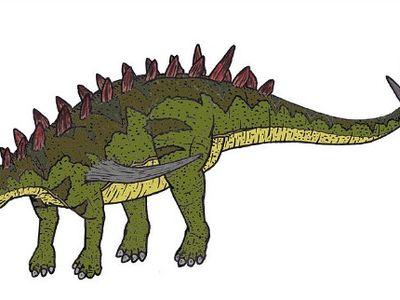 A restoration of Gigantspinosaurus.