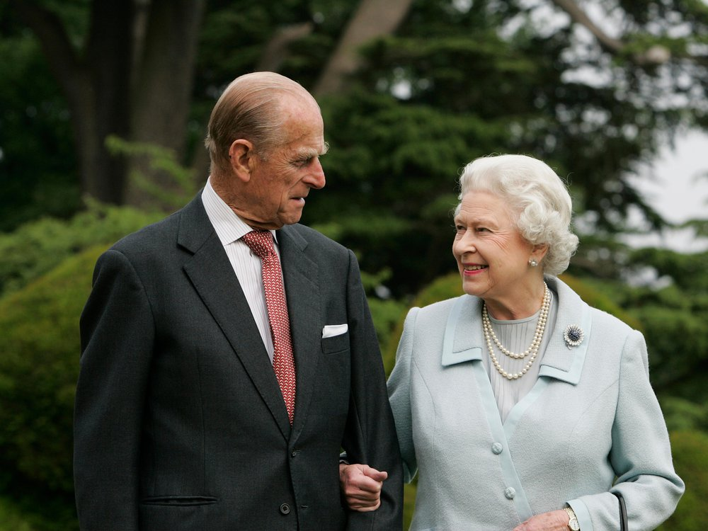 Prince Philip and Queen Elizabeth II in an undated photograph