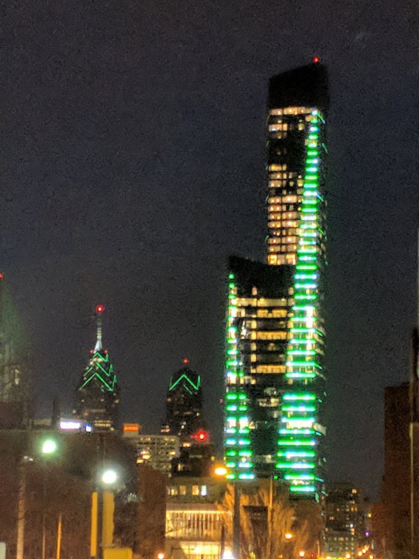 Philadelphia Skyline at Christmas thumbnail