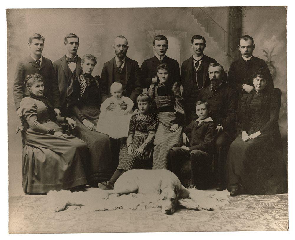 Photograph of the Borglum family