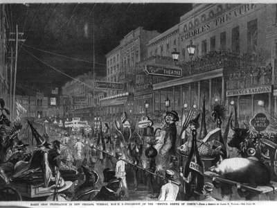 Thanksgiving in the 19th century was less Norman Rockwell, more Mardi Gras.