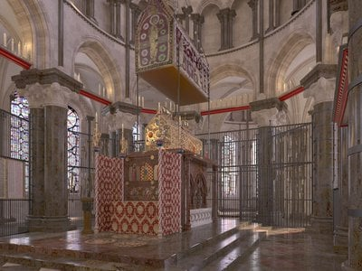 At its peak, the saint's Canterbury Cathedral shrine drew upward of 100,000 visitors each year.