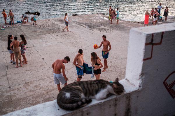 street scene in Herceg Novi, Montenegro thumbnail