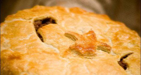 Only in Quebec, the tourtiere -- a holiday meat pie.