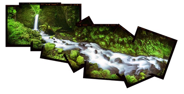 A small waterfall along Ruckel Creek in the Columbia River Gorge National Scenic Area in Oregon. thumbnail
