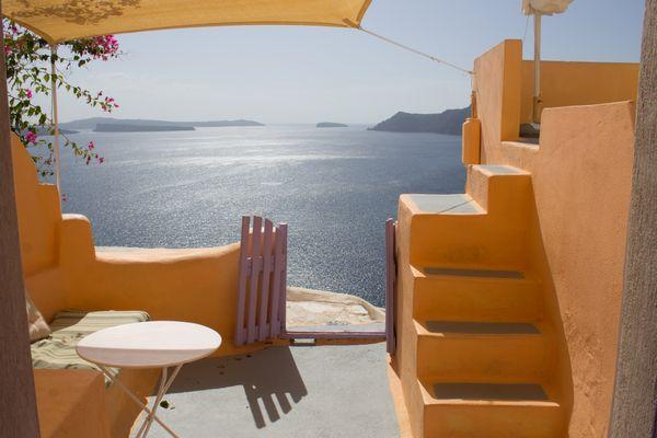 View from Terrace, Santorini thumbnail