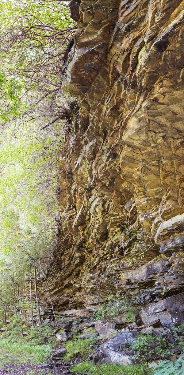 Rock formation on Ansted rail trail thumbnail
