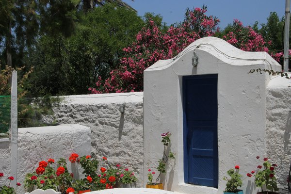 Mykonos flowers and door thumbnail