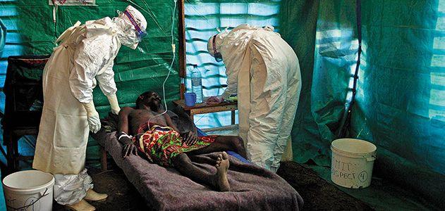 Doctors with Ebola patient