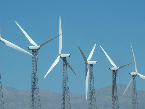 Turbines blowing in the wind thumbnail