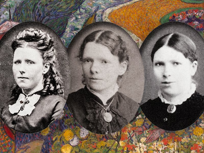 L to R: Anna, the eldest van Gogh sister; Elisabeth, or Lies; and Willemien, the youngest, who was better known as Wil