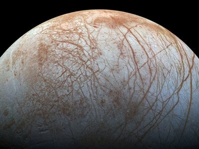 Jupiter's moon Europa may have the ingredients necessary for hosting life: liquid water, an energy source and organic compounds.