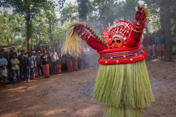 Theyyam  Dance  - the Dance of God on fire. Camera Nikon D5 & 24-70 Lens thumbnail